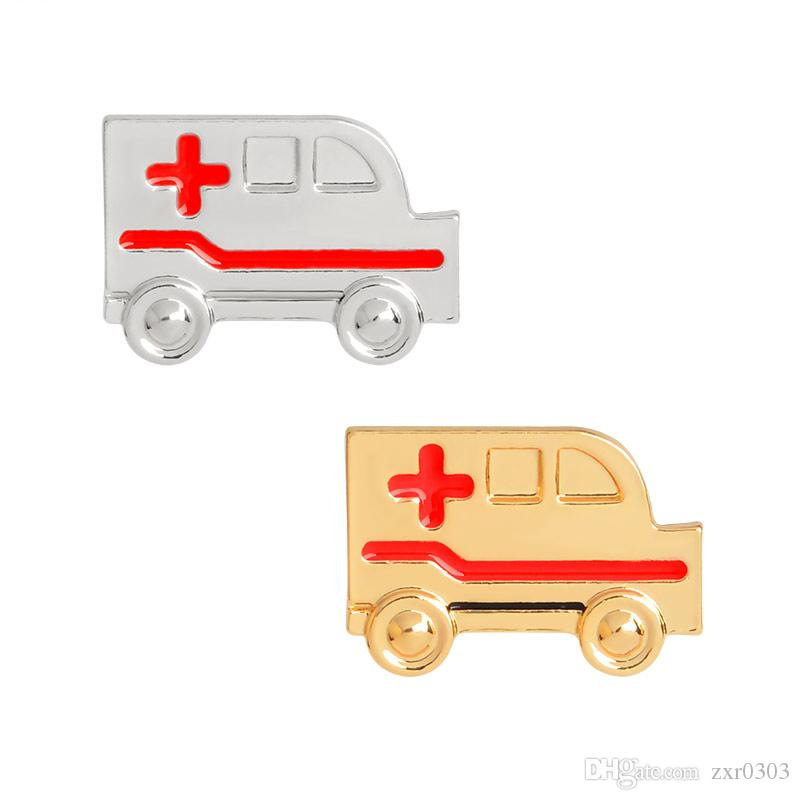 Ambulance pins Badges Brooches Lapel pin Medical Jewelry brooch pin Doctor Nurse Medical School Graduation gift Nurse jewelry