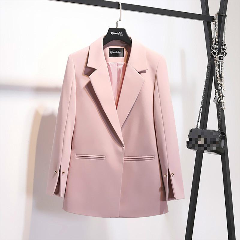LANMREM 2018 Herbst Sommer Neue Muster Mantel Kerbkragen Verschüttete Hülse Perlen Dekoration Tasche Damenmode Blazer BC031 D1892503