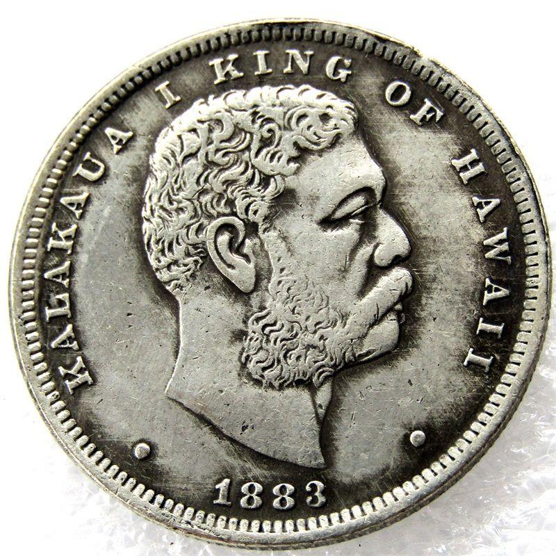 Горячий продавать 1883 1 / 2D Гавайи выбор Au продвижение дешевые заводская цена хороший аксессуары для дома серебряные монеты