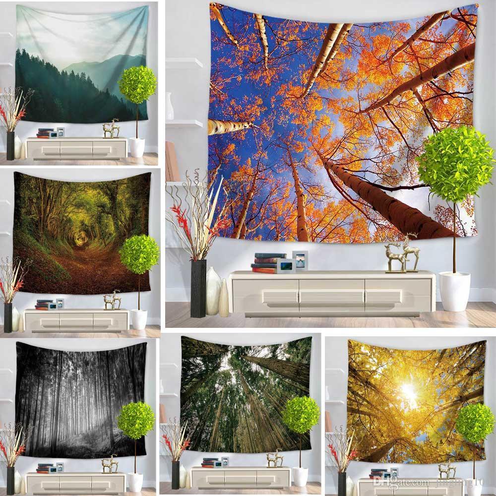 6 Colores 150 * 130 paisaje Impreso Tapiz de Pared Bohemia Rectangular Tapiz Colgante Colcha Chal Étnico Decoración Del Arte Decoración Del Hogar