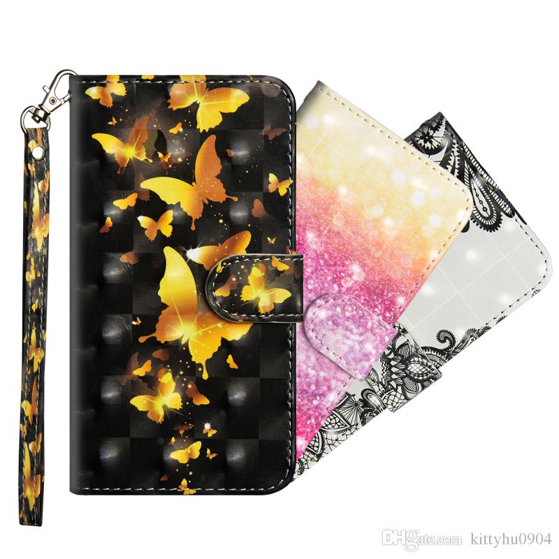 For Motorola Moto C 2017 XT1750 XT1754 3D Painting with Magnetic Magnet leather PU case with Wallet Credit Card Holder Stand Case Cover