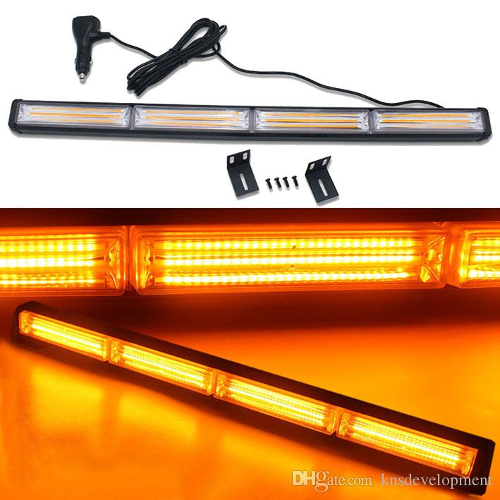 COB Traffic Advisor Emergency Vehicle Strobe Warning Light bar Directional Linear Bar 7 Flash Modes with Different Colors Available 48W 12V