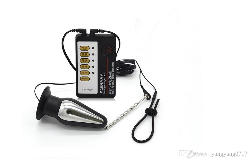 남성 전기 충격 요도 카테터는 큰 항문 플러그 전자 들것 Dilator E- 스틱 수탉 반지 섹스 토이 부부와 함께 소리 남근 소리