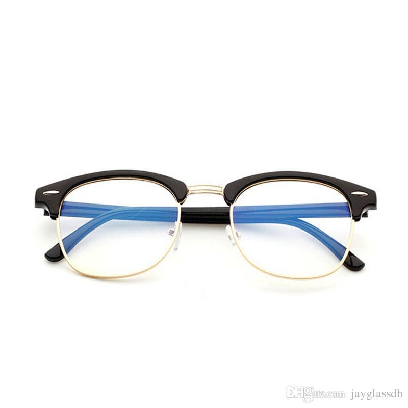 Marca Anti Blue Light Goggles Lectora Gafas Protección Eyewear Marco de titanio Gafas de Juego de Computadora Para Mujeres Hombres Clear Lentes