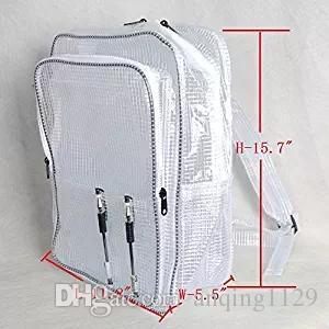 40см * 30см * 18см ясно антистатический ПВХ мешок рюкзак сумка инженер мешок для чистых помещений инженера, работающего л в чистых помещениях полного покрытия ПВХ