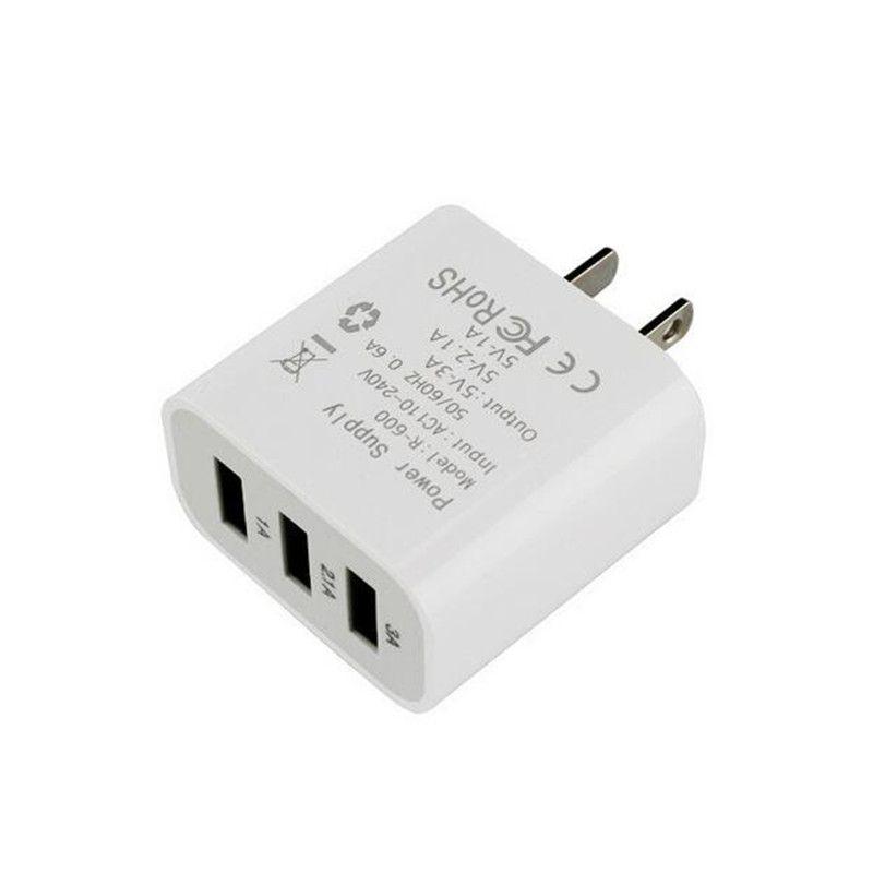 3 USB зарядное устройство Адаптер для путешествий 3A Зарядные устройства Home Plug для мобильного телефона для iphone samsung