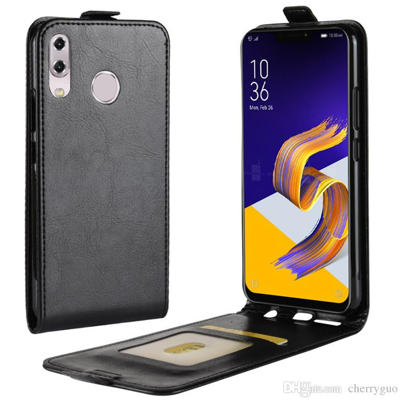 size 40 5ce2e 86534 Flip Cover For ASUS Zenfone 5 ZE620KL Zenfone 5Z ZS620KL, TPU+PU Leather Up  And Down Case Cover With Card Slot Cell Phone Case Covers Uncommon Cell ...
