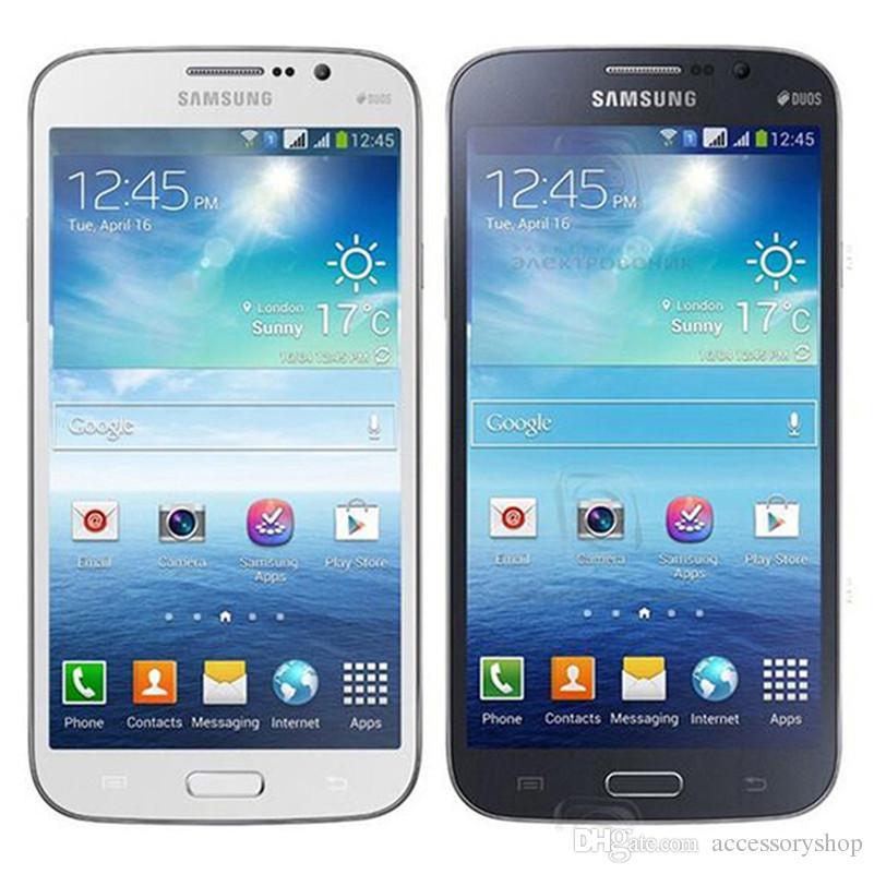 Remodelado Original Samsung Galaxy mega 5,8 i9152 5pcs Dual SIM 5.8 polegadas Dual Core de 1,5 GB RAM de 8GB ROM 8MP 3G desbloqueado Android Phone DHL