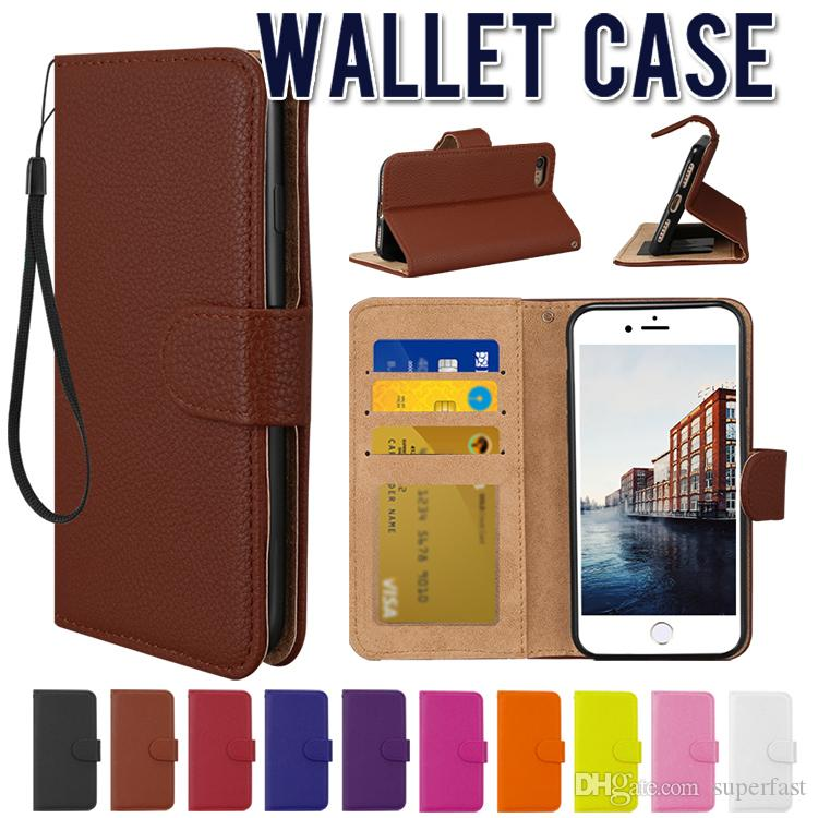Magnetic Wallet Flip Cover case for iPhone 7/8 Plus PU Leather Case Kickstand Phone Case Soft TPU inner for iPhone 6 6S Plus 7 8 in OPP Bag