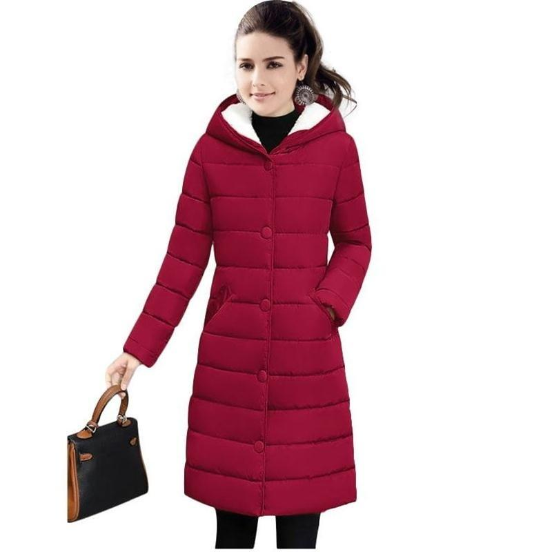 Winter Warm Female Jackets new 2018 fashion Winter Jacket women Thicken Hooded Women's down jacket Warm Winter coat Female Parka S18101203