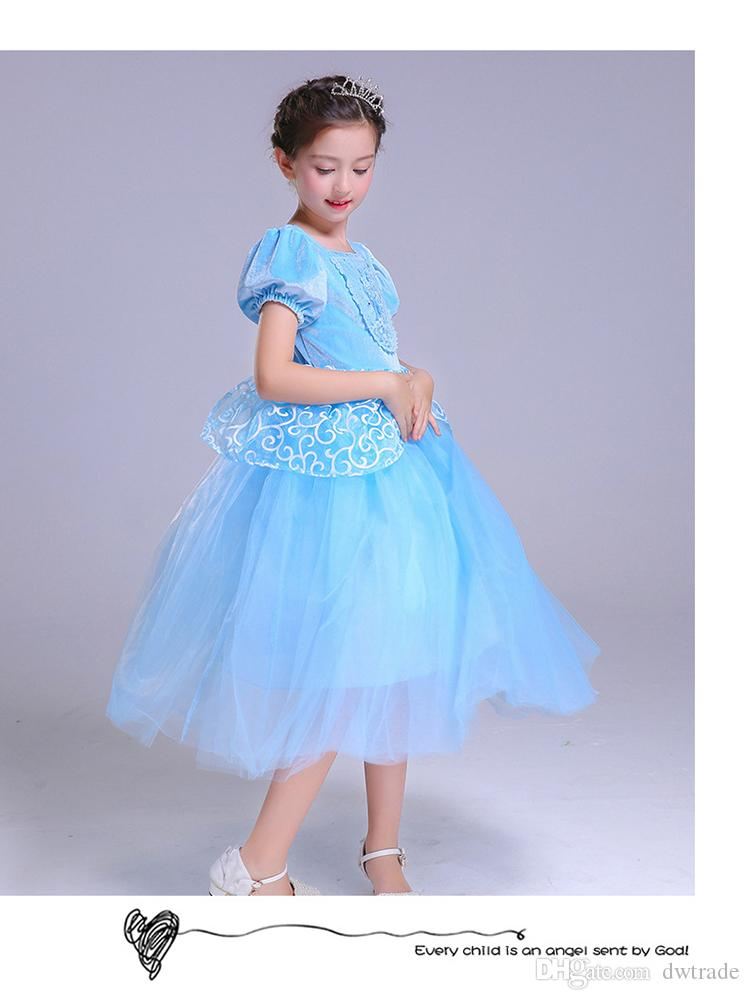 2018 New Fashion Beautiful Princess Dresses bambini Halloween Party Cosplay Abiti di Natale per ragazza adolescente