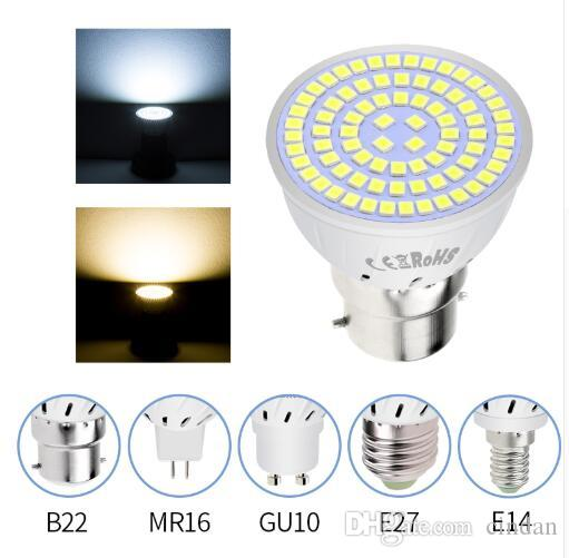 LED GU10 스포트라이트 전구 옥수수 램프 MR16 스포트 라이트 전구 GU5.3 SMD2835 캔들 LED가 빛 홈 장식 앰플의 LED 메종 주도