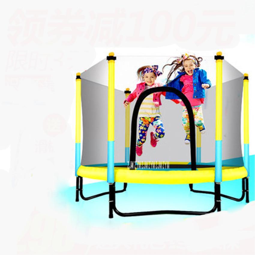 60 polegada Rodada Crianças Mini Trampolim Gabinete Net Padaria Rebounder Exercício Ao Ar Livre casa brinquedos saltando cama carga máxima 150 KG PP, liga