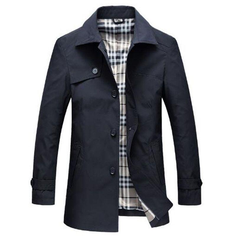 Tangcool 2018 Primavera Slim Fit Casacos Longos Homens Estilo Britânico Outwear Negócios de Alta Qualidade Clássico Trench Windbreaker