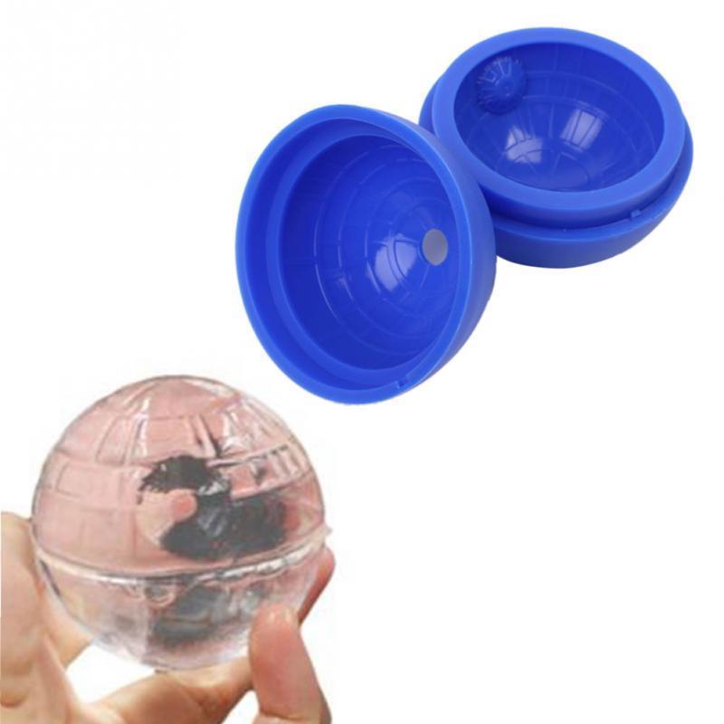 Nova diy ferramenta de silicone estrela rodada cubo de gelo molde bandeja deserto esfera molde azul