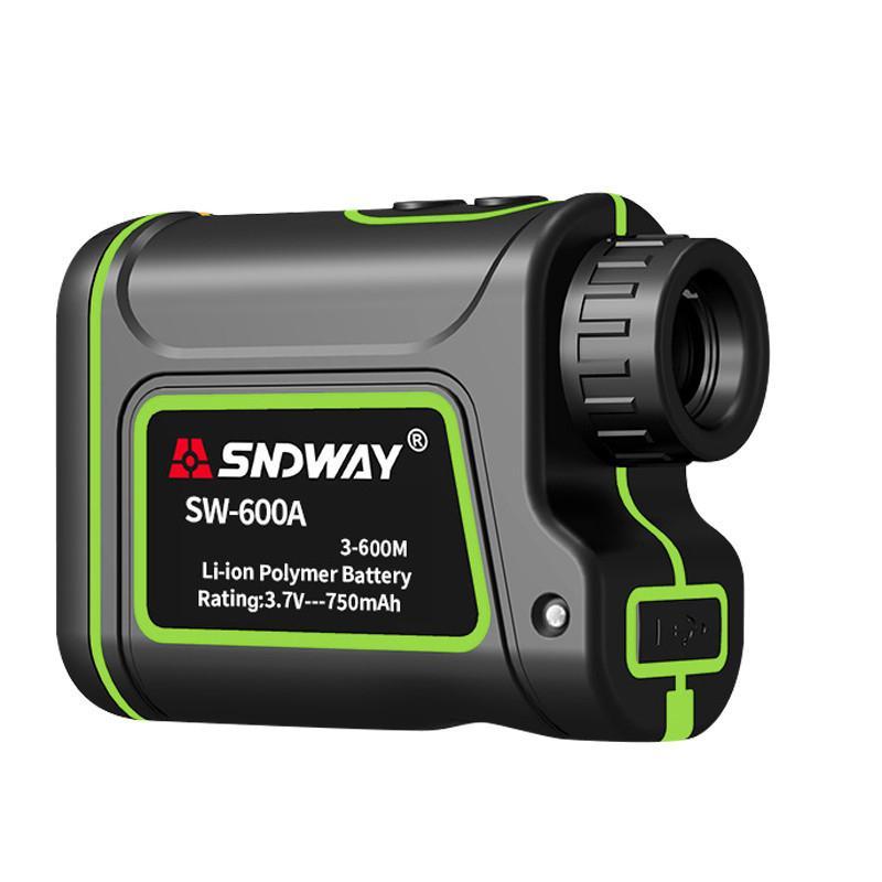 SNDWAY 600m portátil monocular Medidor telémetro láser medidor de distancia Golf Caza Laser Range Buscador Telescopio Medir al aire libre