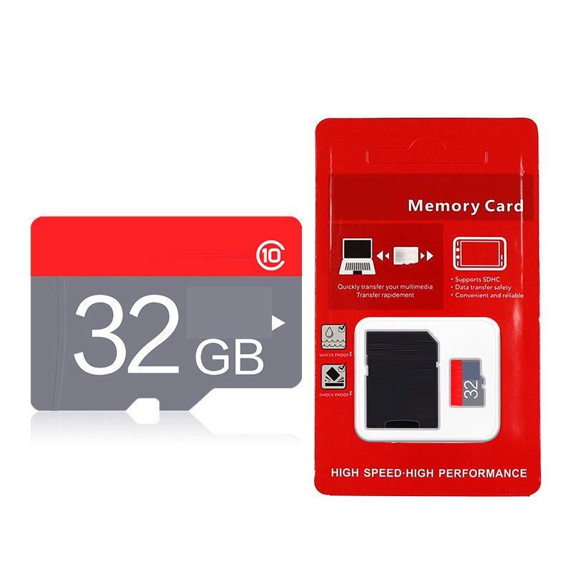 Rouge bleu blanc générique 32gb 64gb 128gb 256gb 200gb TF carte mémoire pour Smartphone Android Tablet Dash Caméra DHL express 12 mois de garantie