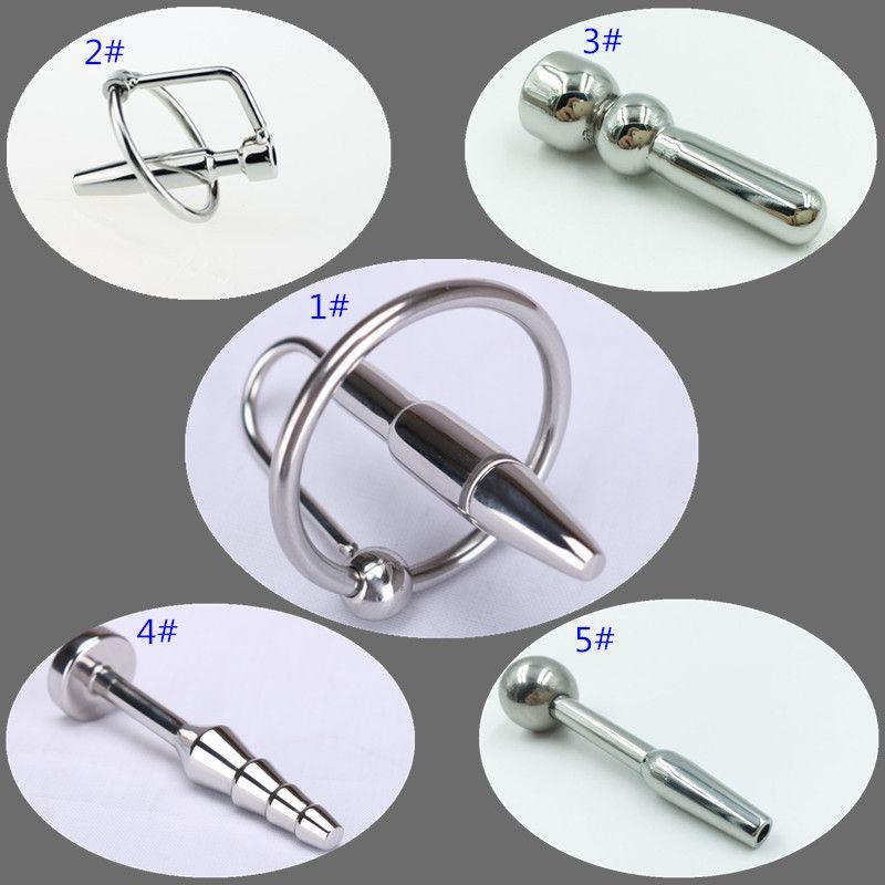 5 Models Stainless Steel Urethral Sound Catheters Urethral Dilator Horse Eyes Penis Plug Adult Game Sex Toys for Men B2-3-34