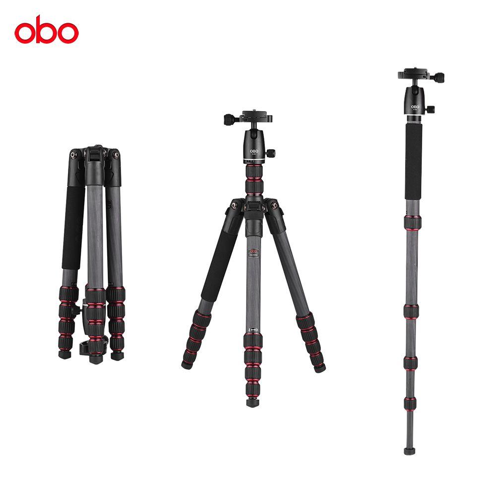 Comercio al por mayor TS360C Plegable Trípode de Trípode de Cámara de Fibra de Carbono Portátil Monopie para Canon Nikon Sony DSLR ILDC Cámaras