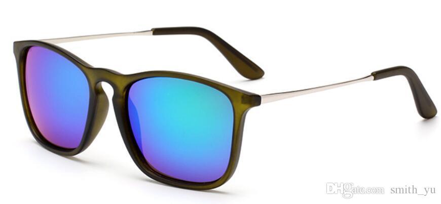 Neue Art und Weise Sonnenbrille-Männer Frauen-Marken-Designer Mirrored UV400 Chris Driving Glass gafas oculos de sol Kühle Sun-Gläser mit Fall