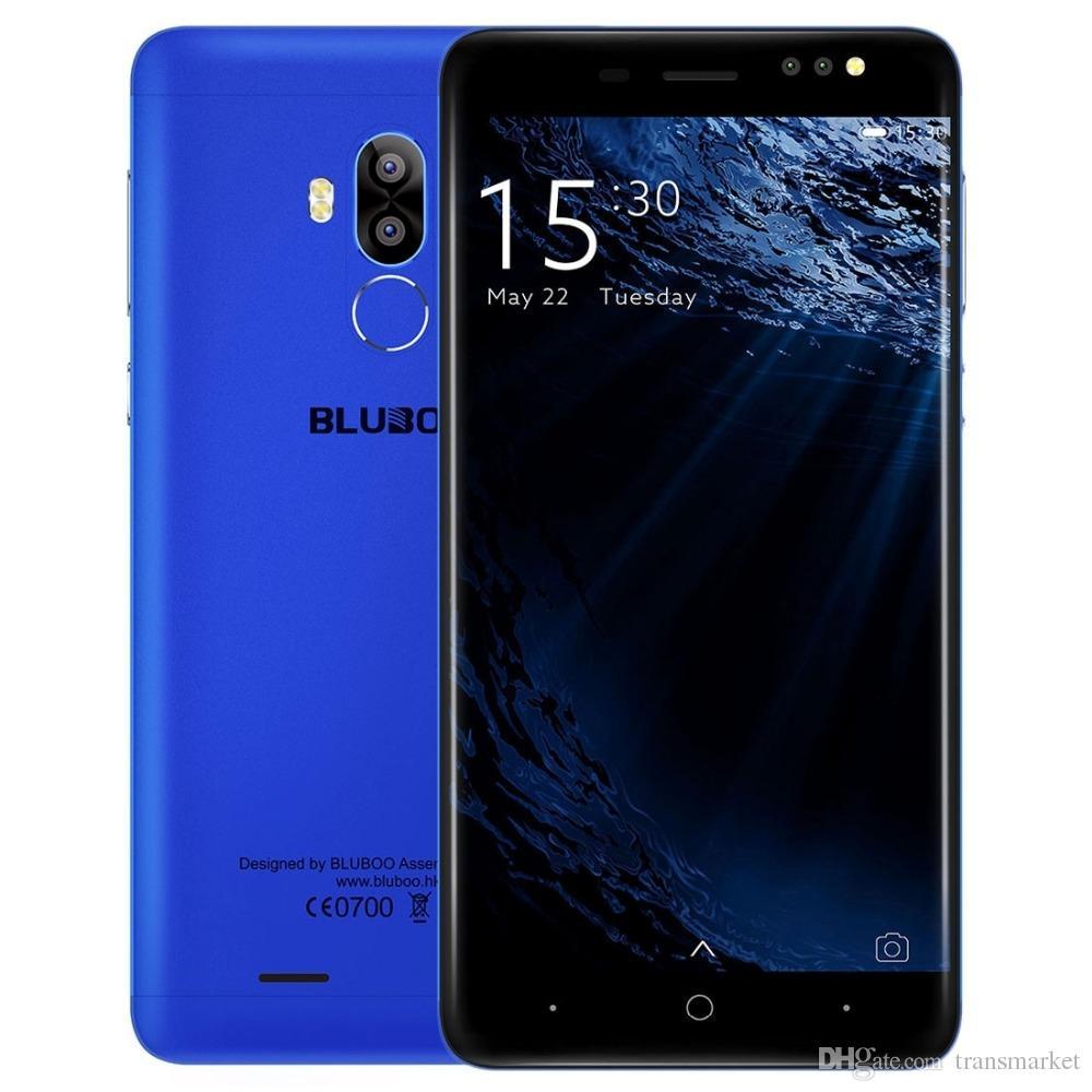 Original Bluboo D1 Fingerprint 5.0'' Smartphone MTK6580 Qual Core 2G RAM 16G ROM Cellphone Dual Back Camera Android 7.0 Mobile Phone