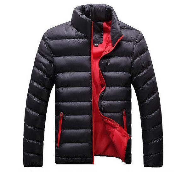 2018 осень и зима мужской воротник сплошной цвет повседневная пуховик хлопок большой размер куртка прилив мужская одежда L18101103