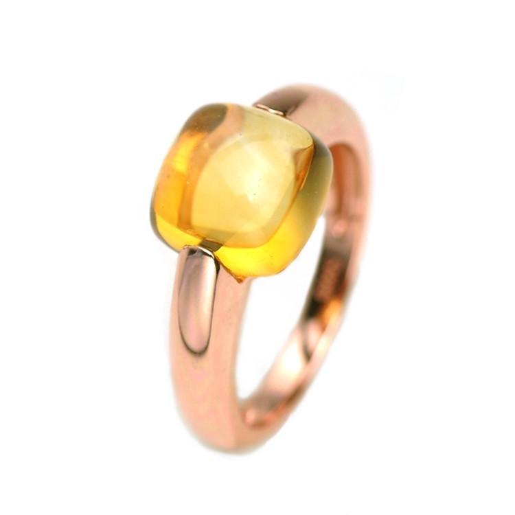 YESWOMEN Naturel Citrine Bague De Fiançailles De Mariage En Argent Sterling 925 Fine Jewelry Cadeau Pour Les Femmes Y1892607