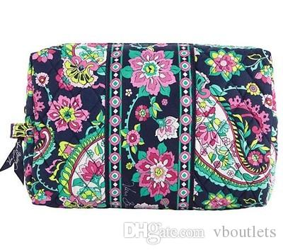 Хлопок Zip сумка для хранения косметичке Большой емкости портативных Случаи Cosmetic Bag