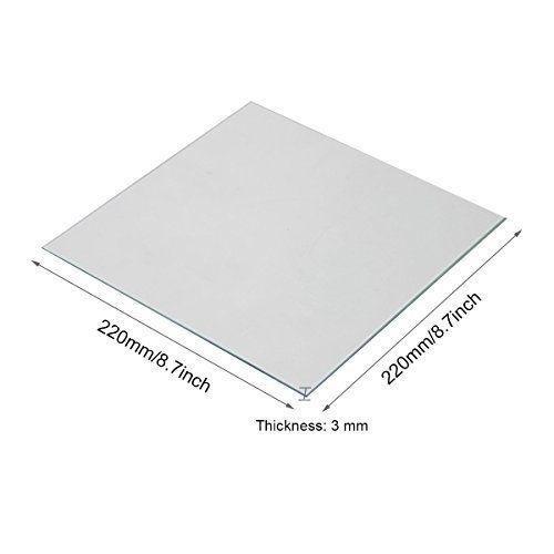 Прозрачный боросиликатного стекла тепло кровать 220x220x3mm для 3D-принтеров Anet A8 A6 Reprap 3D аксессуары для принтеров