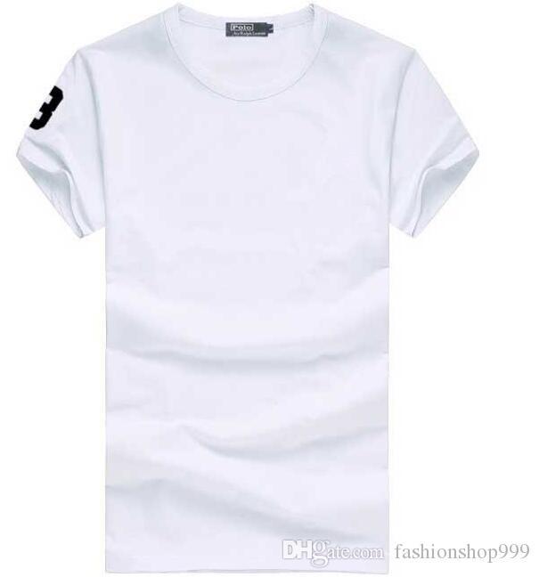 2018 Qualitätsbaumwolle neue Oansatz Kurzhülse T-Shirt Markenmänner T-Shirts beiläufige Art für Sport T-Shirts geben Verschiffen frei
