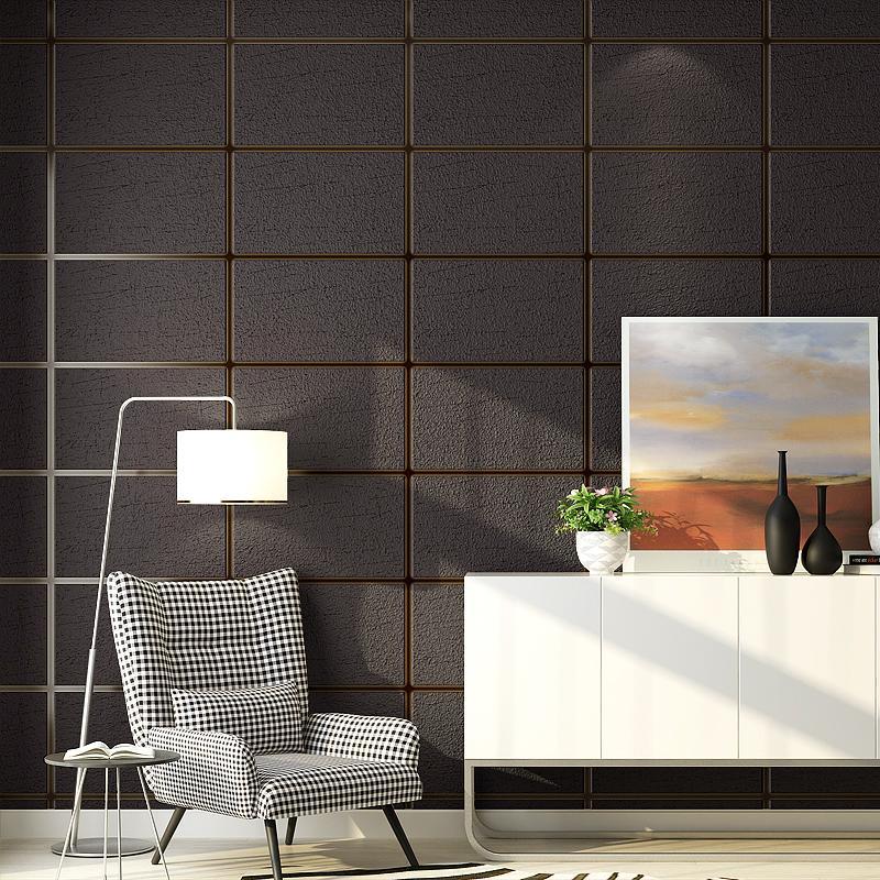Grey 3d Faux Marble Wallpaper Roll Squares Decorative Concrete