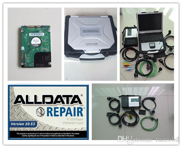 En iyi MB Yıldız C5 ve ALLDATA 10.53 HDD 1TB ile Laptop CF30 Yıldız 12 V 24V için Teşhis Çalışma Hazır