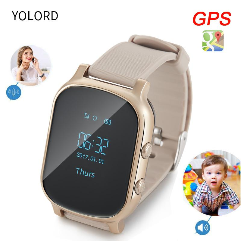 YOLORD Accurate GPS Multi Positioning Anti Lost Safe Security Remote Monitor SOS Call Smart Watch Kids Students Older Old People