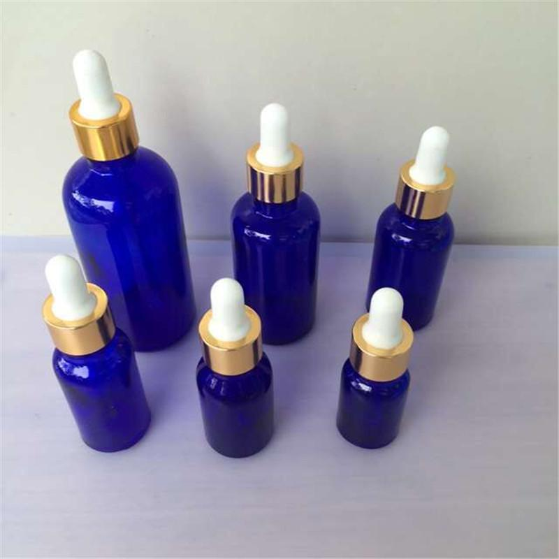 Glass Dropper Bottles with Pipette Empty Blue Esssentail Oil Bottles Liquid Jar