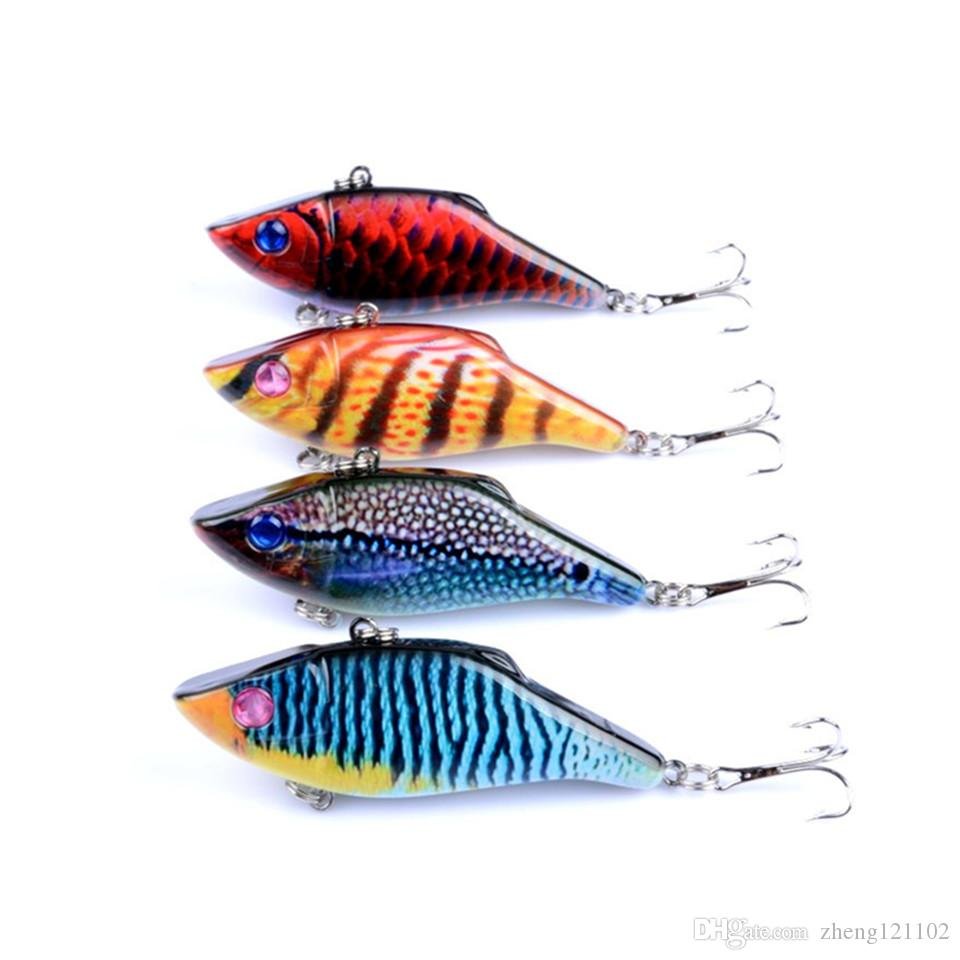 Quality Professional Japan Fishing Lures 7cm 11g Artificial Bait 11g Crankbait 4 Color VIB Fishing Tackle 6# Hook Fishing lures Set
