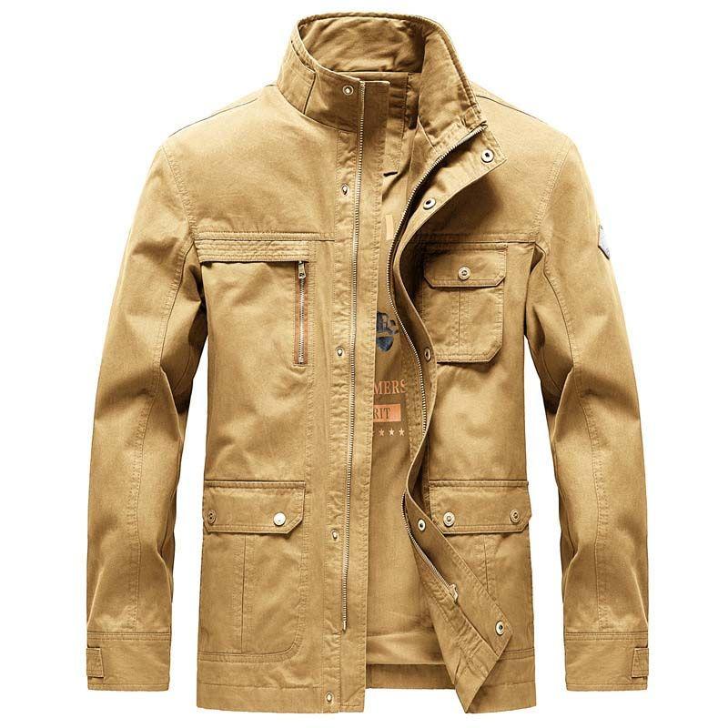Homme Mince Militaire Tactique Bombardier vestes Casual Sports Baseball Manteaux Outwear