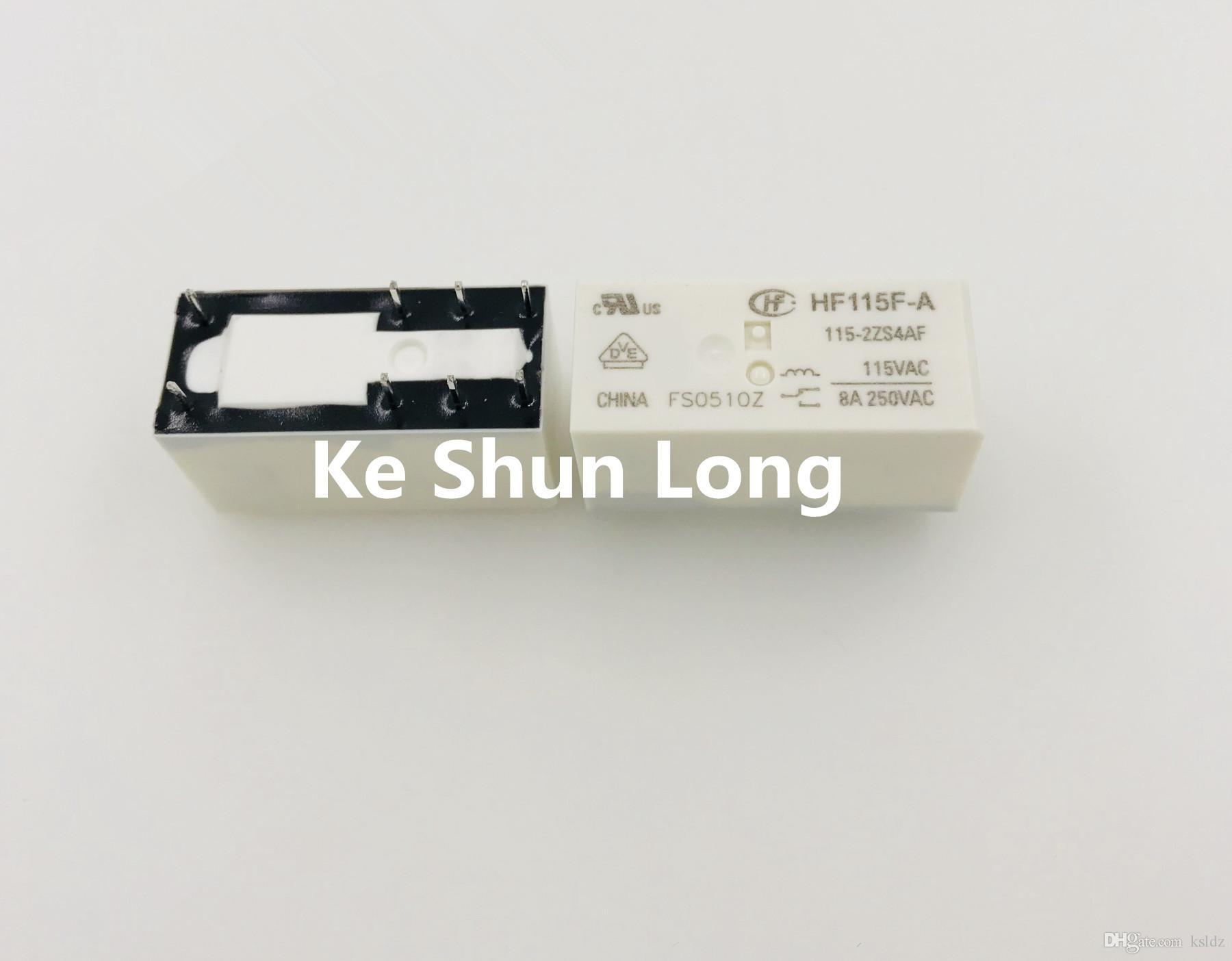Free shipping(5pieces/lot)Original New HF115F-A-024-2ZS4AF HF115F-A-115-2ZS4AF HF115F-A-230-2ZS4AF 8PINS 8A250VAC Power Relay