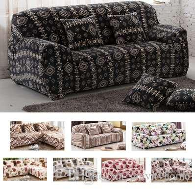 LFH Plush fabric Sofa Cover Thick Slipcover Couch Sofa Covers Stretch Elastic Christmas gift Velvet Fit For Sofa Bed Furniture
