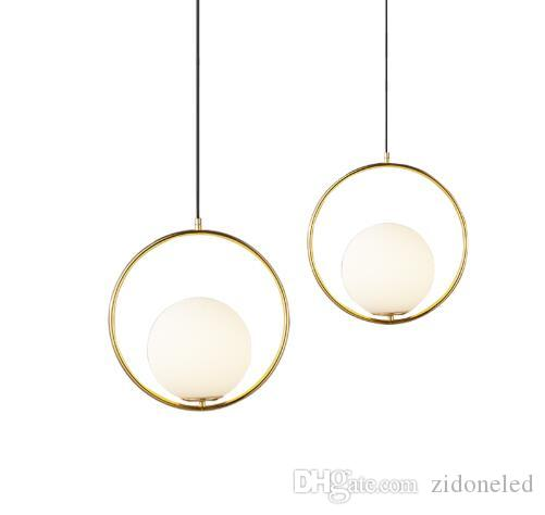 جولة غلوب قلادة الأنوار بار مطعم المطبخ تركيبات زجاج الكرة قلادة مصابيح شنق مصباح lamparas luminaire avize