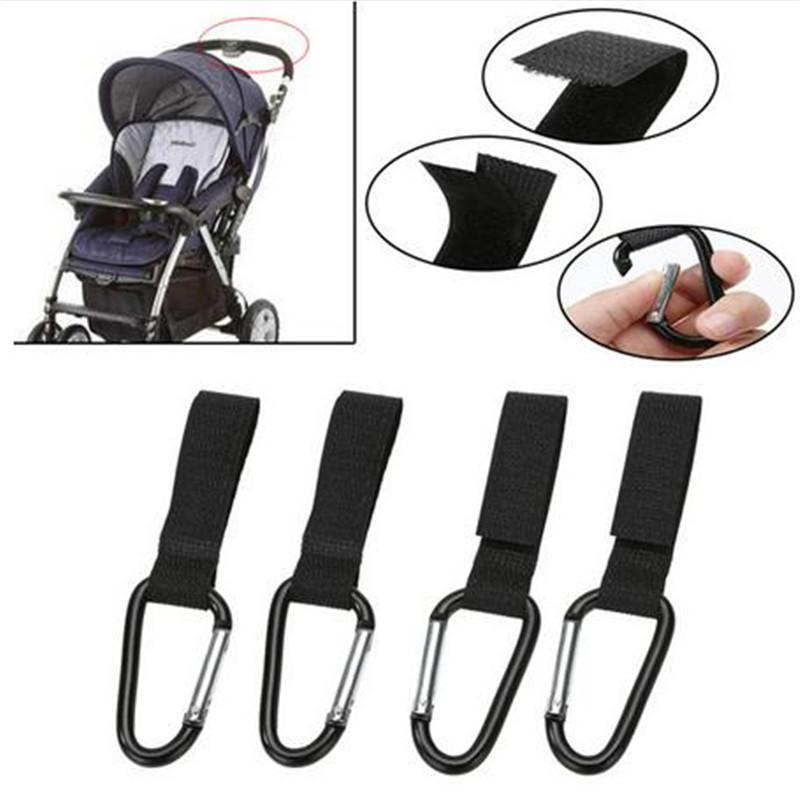 Stroller Hooks Wheelchair Stroller Pram Carriage Bag Hanger Hook Baby Strollers Shopping Bag Clip Stroller Accessories 8pcs/Set