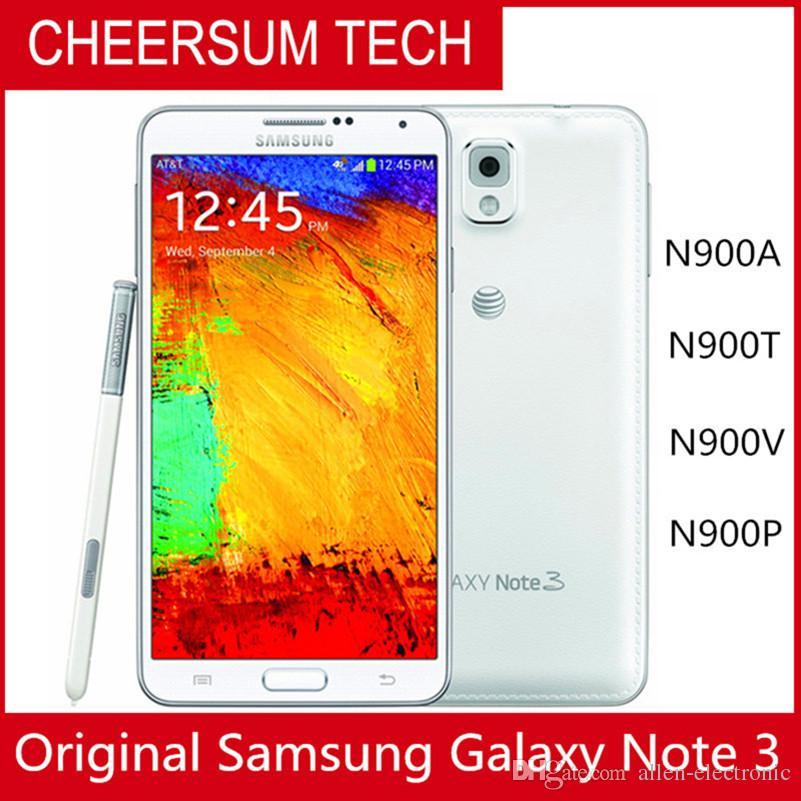 تم تجديد Samsung Galaxy Note 3 الهاتف المحمول ROM 16G Android 4.3 رباعية النواة 3 جرام رام 13MP كاميرا 5.7 بوصة شاشة أصلية سامسونج الهاتف