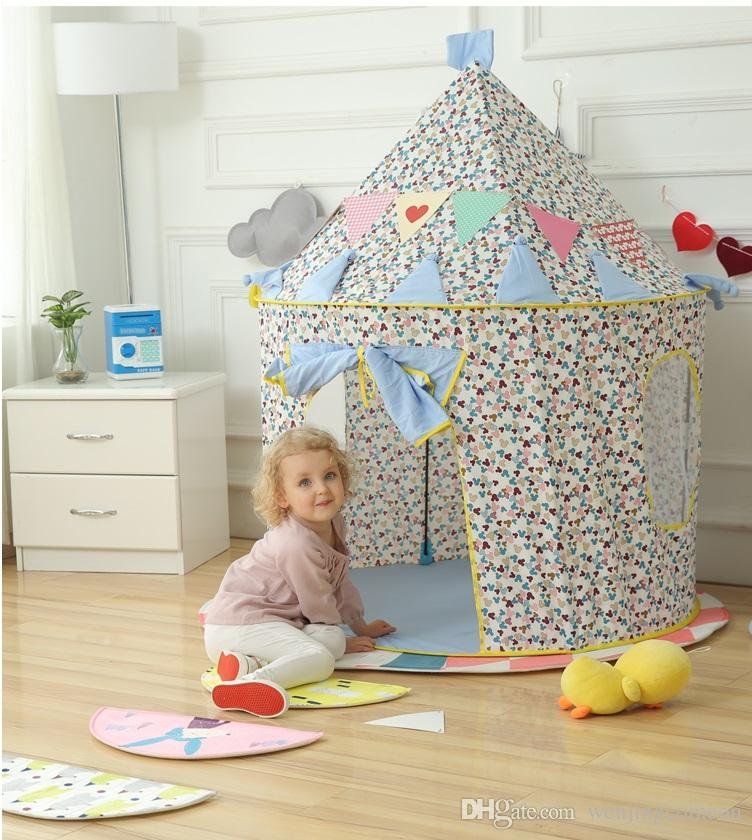House For Children Game Tent Blue Price Castle Best Gift For Children Kid Tent Playhouse Kids Outdoor Toys