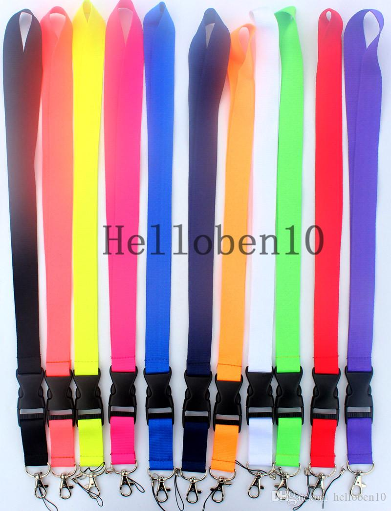 Multiple colors mixed detachable Lanyard mobile phone neck strap key chain(Large quantity favorably).Please leave a message to buy