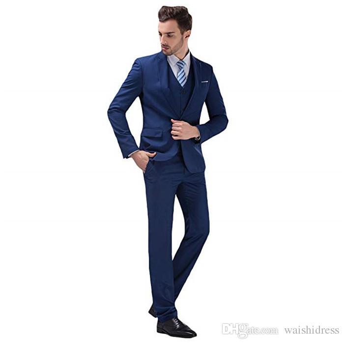 2018 waishidress moda cinza 3 peças homens ternos ternos de casamento 1 botão noivo / bestman smoking terno casaco calça imagens de design (jaqueta + colete + calça)
