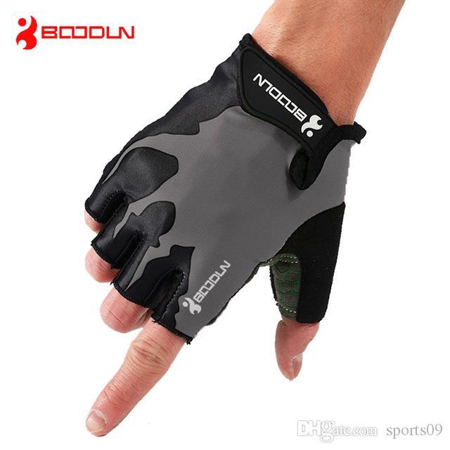 Марка половина палец Велоспорт перчатки анти - скольжения гель Pad велосипед перчатки MTB дышащий спорта на открытом воздухе Мужчины Женщины дорожный велосипед перчатки езда Ciclismo
