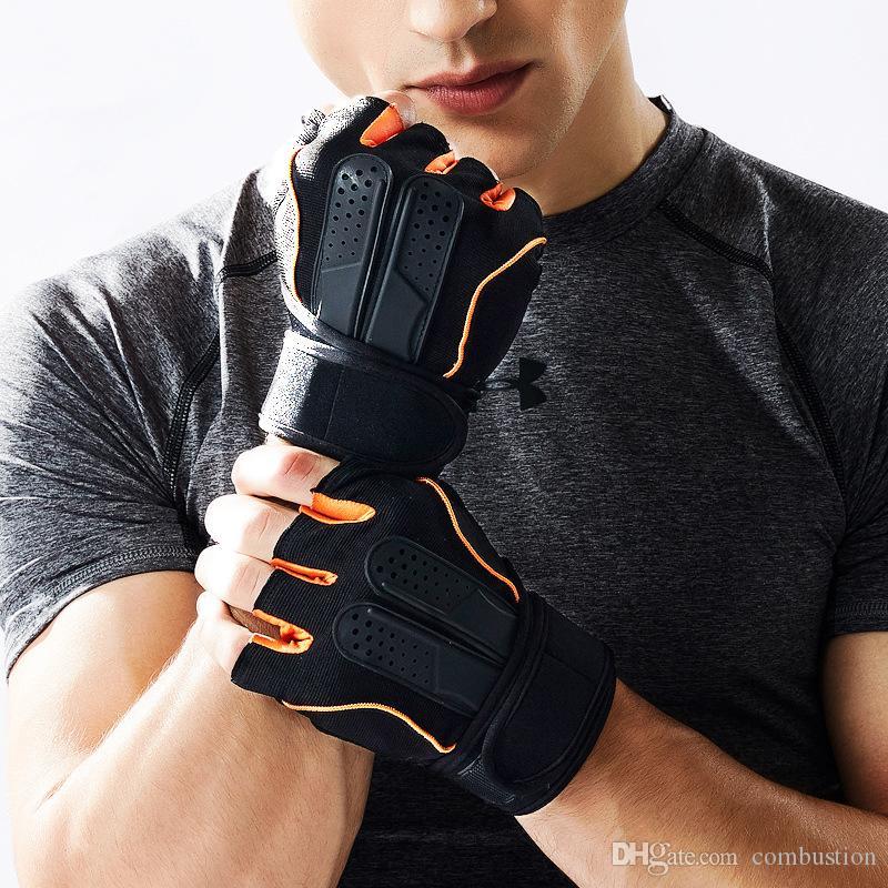 Metade Dedo Luvas De Fitness Pulseira Esportes Ao Ar Livre Dos Homens E Mulheres de Equitação Luvas Não-deslizamento Esportes