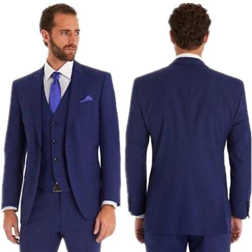2019 Navy Blue Suits Men\u0027S Wedding Suits Formal Best Man Groom Tuxedos From  Viviant, $137.04