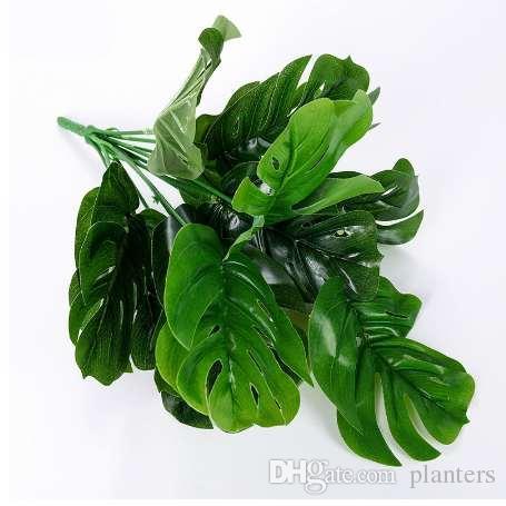 35 cm de altura tartaruga folha planta artificial árvore 12 folhas de plantas artificiais