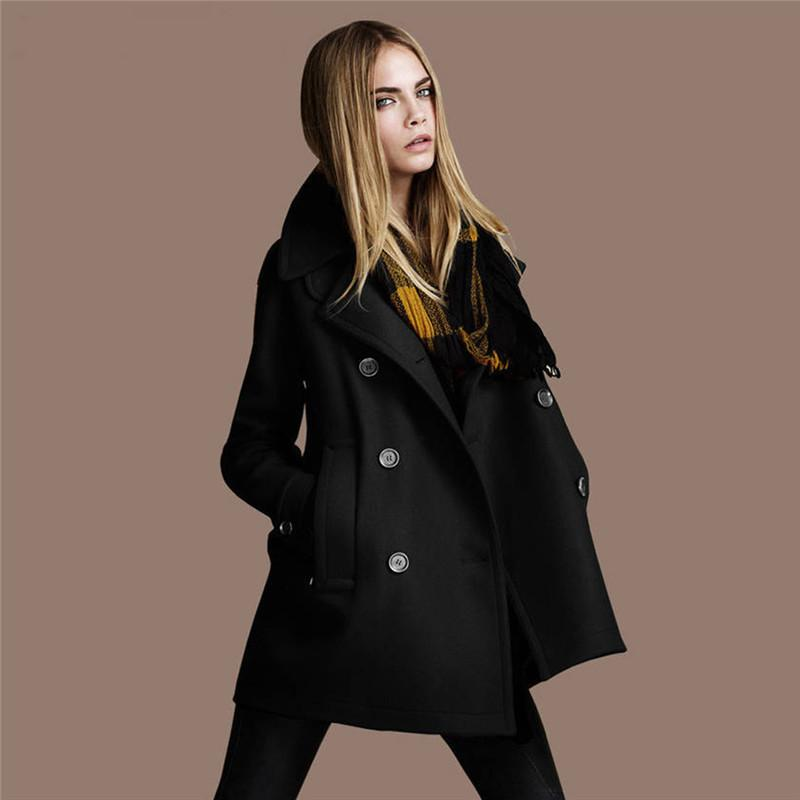 2018 Winter Double Breasted Vintage Trench Coat For Women Cotton Knitted Ladies Long Oversized Coat Warm Overcoat 3XL Plus Size