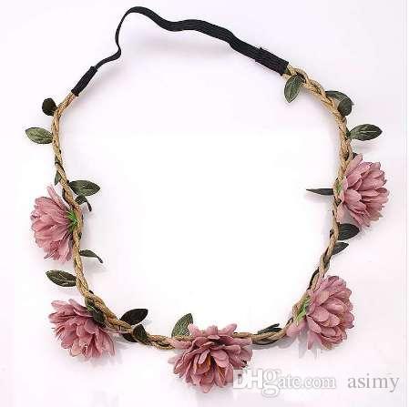 M MISM Femmes Fleur Bandeau Filles Fleurs Cheveux porter des enfants Bandeaux Bandeau Cheveux Accessoires le pansement pour la couronne